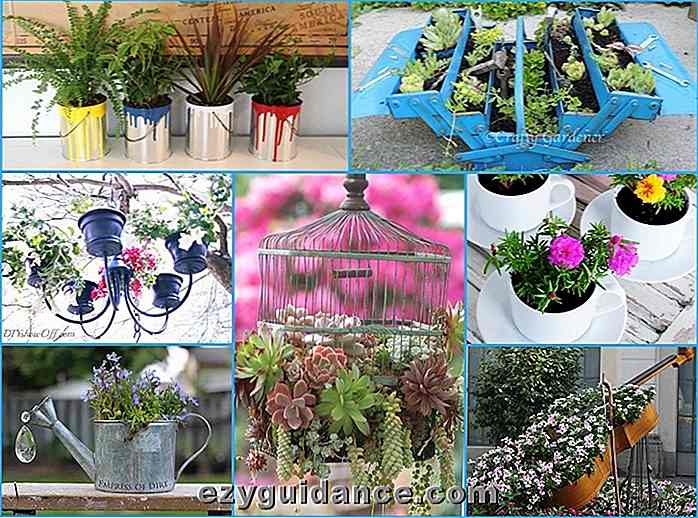 40 Unike og Fun Container Garden Ideas