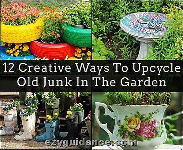 12 modi creativi per Upcycle Old Junk In The Garden