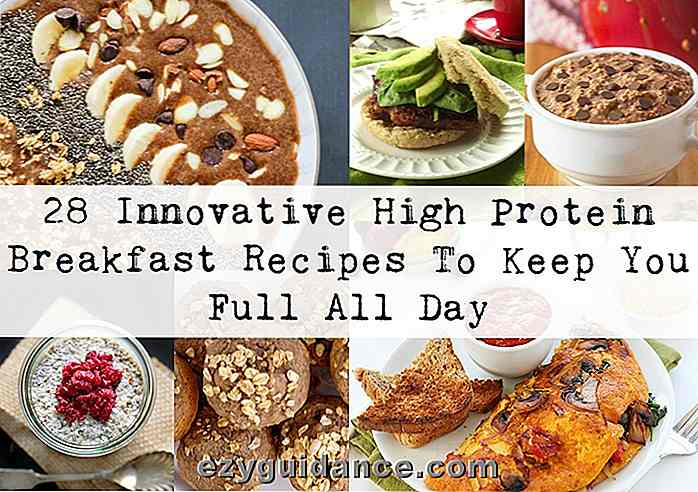 28 Innovative High Protein-frokostoppskrifter for å holde deg full hele dagen