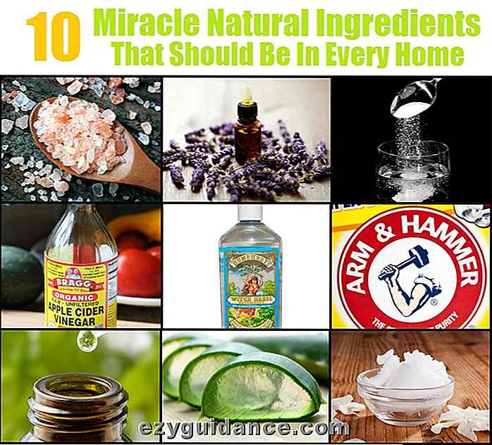 10 Miracle Natural Ingredients som skal være i hvert hjem
