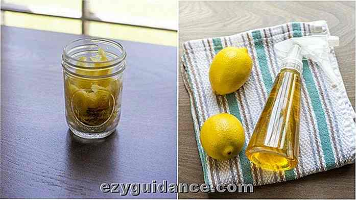 Easy Homemade Two-Ingredient Lemon Disinfectant Cleaner