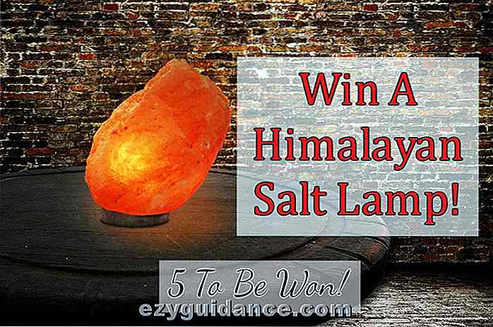 GIVEAWAY: Win een Himalayan Pink Salt Lamp - 5 te winnen!